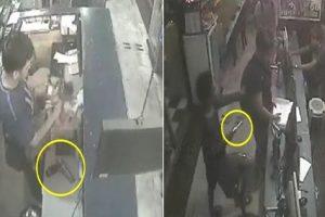 Thieves with Guns Casually Rob Internet Café