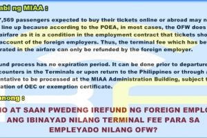 Where and How to Process the P550 Refund if Employers Pay for OFW Plane Tickets?