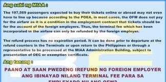 miaa terminal fee foreign employer