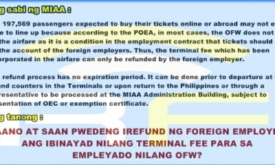 miaa terminal fee foreign employer