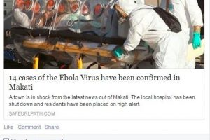 Hoax Article Circulates about Ebola Outbreak in the Philippines