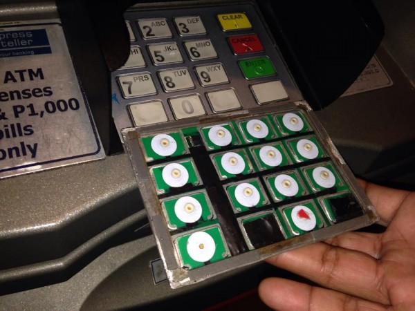 ATM skimming keypad