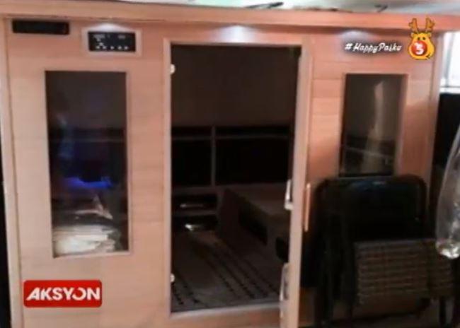 Sauna facility inside New Bilibid Prison