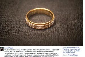 Scuba Diver Attempts to Find Owner of Lost Wedding Ring Via Social Media