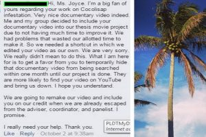 Student Plagiarizes Cocolisap Documentary, Asks Creators to Temporarily Hide Original Work