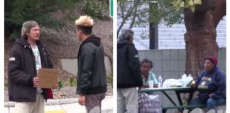 homeless man shares blessings