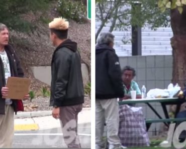 Homeless Guy Receives $100…Shares His Blessings to Other Homeless People