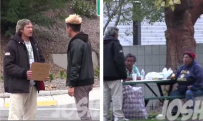 homeless man shares blessings