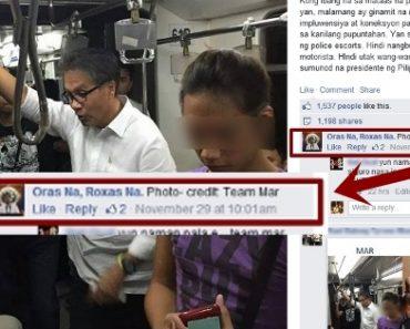 Mar Roxas' Epic PHOTO FAIL? The MRT Ride…
