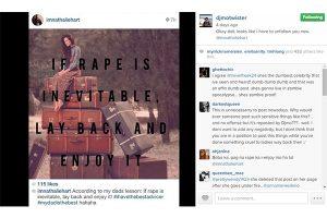 "Filipina Starlet Lambasted For ""Enjoy Rape"" Joke"