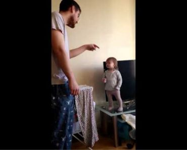 Adorable 15-month-old Girl Wins Standoff Versus Daddy