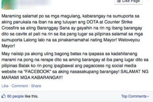 Was the Barangay Chairman Who Banned Dota Responsible for Facebook Outage?