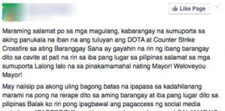 barangay chairman wants Facebook banned