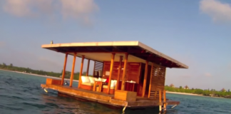 manta resort underwater bedroom