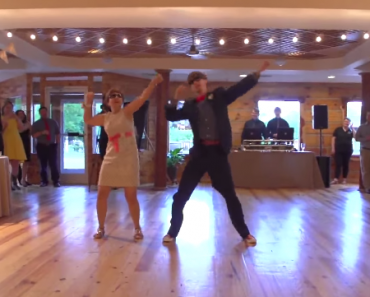 Nerdy Groom and Shy Mom Amaze Guests with Epic Dance Performance