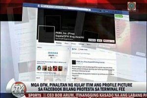 OFWs Sport Black FB Profile Photos to Protest Terminal Fee Integration