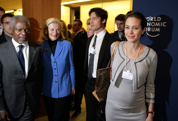 angelina jolie and UN secretary