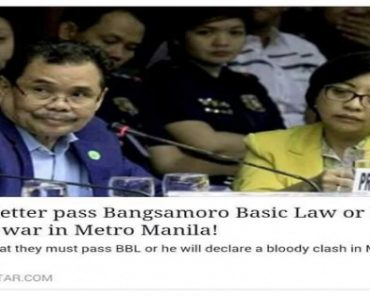 Fake News Headline Claims Iqbal Will Wage War against Manila if BBL is Shelved