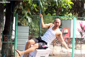 """Mikey Receives a Balikbayan Box and Creates Funny Parody to """"Wrecking Ball"""""""