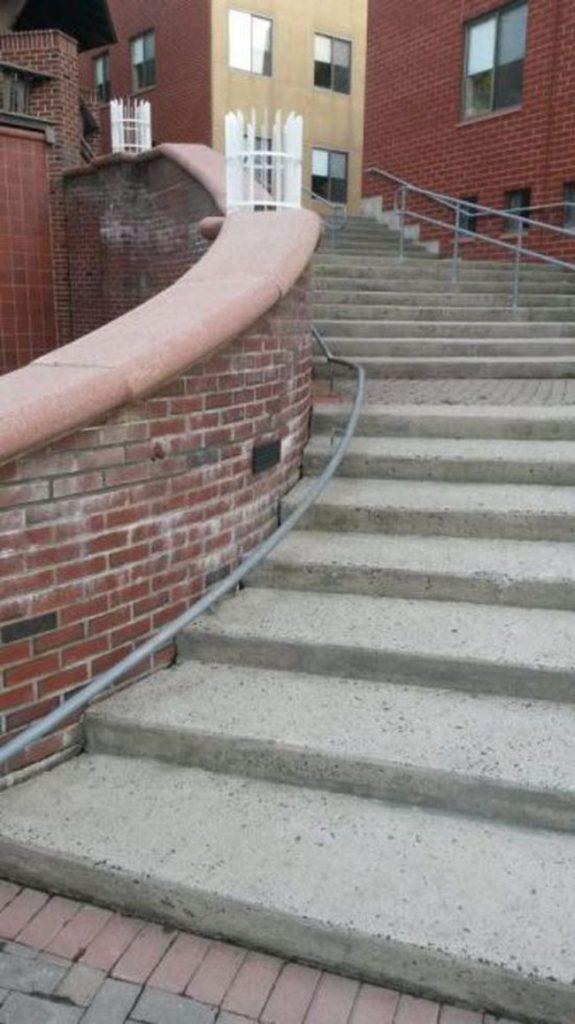 weird railing