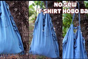 DIY: Turn An Old T-Shirt Into A No-Sew Environment-Friendly Bag