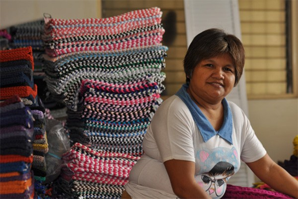 """""""Susa Marie Estabillo used to scavenge dumpsites for a living before she found a way out"""" Photo credit:  AirAsia"""