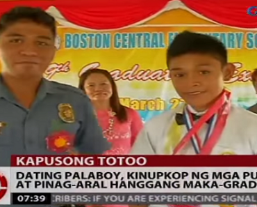 New Graduate: The Street Kid Living at the Police Station After He was Adopted by Policemen