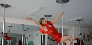 elderly pole dancer