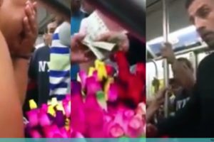 Good Samaritan Buys All of NY Vendor's Roses and Tells Her To Give Them All Away