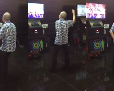 You'll Love this Grandpa…He Tirelessly Danced to Gangnam Style at an Arcade. Amazing!