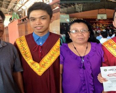 Son of a Jeepney Driver and Son of a Farmer Finish College as Magna Cum Laude!