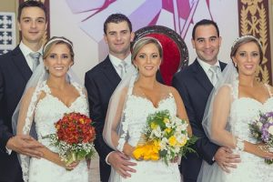 These Triplets Got Married at the Same Time, Wearing Identical Gowns