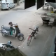 girl meets accident in scooter