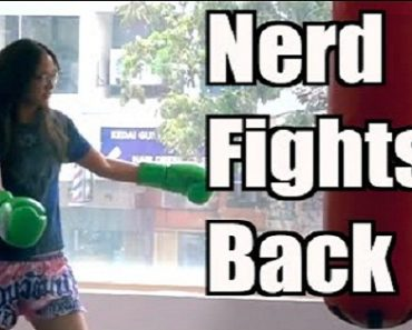 Nerd Girl Hits the Muay Thai Gym and Beats the Guys Up!