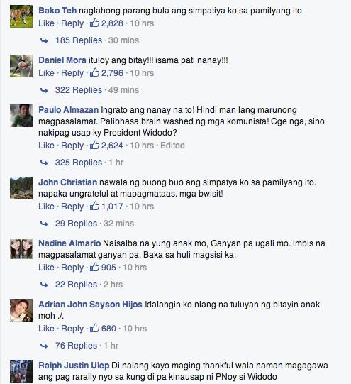 netizens slam veloso family