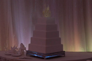 This Simple-Looking Wedding Cake is Magical! Especially When the Lights Start Dancing…