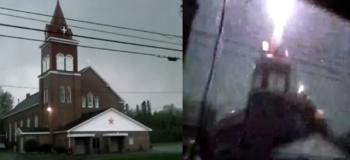 Caught on Camera: Lightning Strikes a Church!