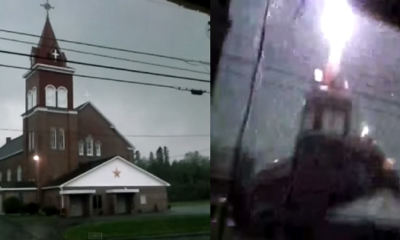 Lightning Strikes a Church