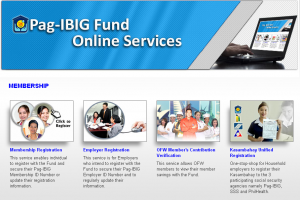Pag-IBIG (HDMF) Online Services for the Convenience of Local and OFW Members