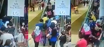 Shoppers Tumble Down as Fully Loaded Escalator Suddenly Changed Direction
