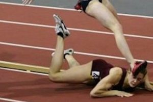 This Runner Wins the 600-m Race Despite Suffering a Fall