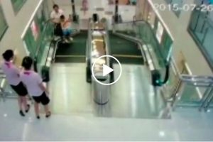 Mother Saves Son Moments Before She Dies in a Horrific Escalator Accident