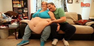 obese woman and trucker