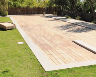 This Boring Deck Turns Into an Impressive Swimming Pool with Just a Touch of a Button!