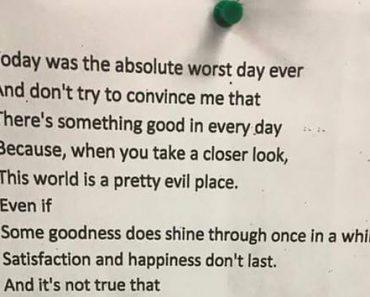 Teen's Inspirational Poem Goes Viral