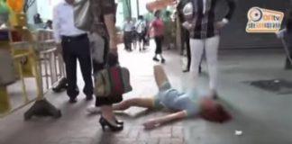 chinese woman tantrum