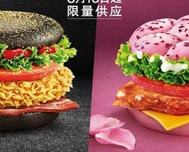 KFC in China Now Serves Black and Pink Burgers in China