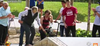 Pro Skater Disguised as Old Man Shocks Everyone with Incredible Skating Tricks