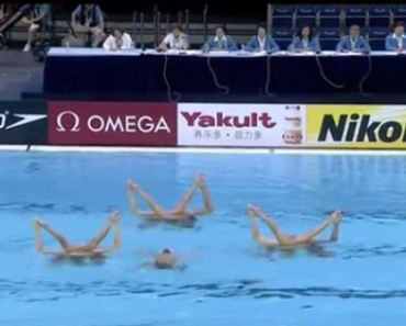 Spanish Team's Unique Entry to Synchronized Swimming Wins Them the Gold