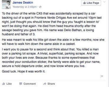 Man Reportedly Killed After Accidentally Scratching Furious Driver's Car